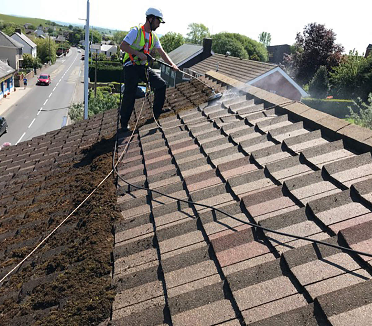 roof cleaning company in swansea